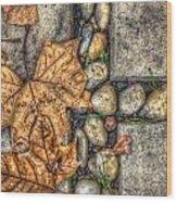 Autumn Texture Wood Print