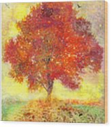 Autumn Tree Wood Print