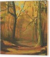 Autumn Woods 1 Wood Print