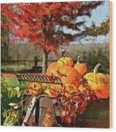 Autumns Colorful Harvest  Wood Print