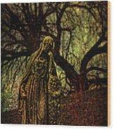 Ave Maria Full Of Sorrows Wood Print