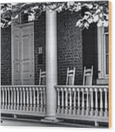 Avenel Porch - Bedford - Virginia Wood Print