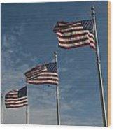 Avenue Of Flags Wood Print