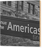 Avenue Of The Americas Wood Print
