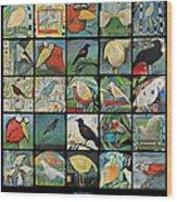 Aviary Poster Wood Print
