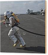 Aviation Boatswain's Mate Carries Wood Print