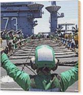 Aviation Boatswain's Mate Signals Wood Print