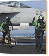 Aviation Boatswain Mates Signal A Clear Wood Print