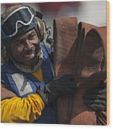 Aviation Boatswains Mate  Carrying Wood Print