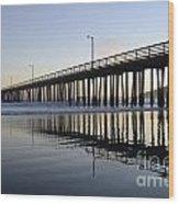 Avila Beach Pier California 3 Wood Print