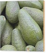 Avocado Greens Wood Print by Steve Outram