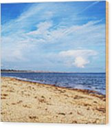 Avon Beach At Mudeford In Dorset Wood Print