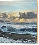Awash In The Sea Wood Print