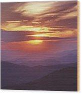 Awesome Sunset Wood Print