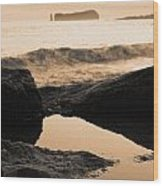 Azores Islands Seascape Wood Print