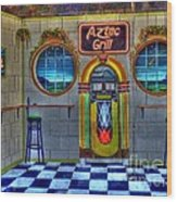 Aztec Grill Route 66 Wood Print