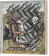 Aztec: Life And Death Wood Print