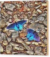 Azul Wood Print