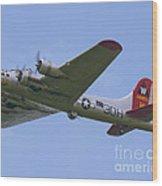 B-17g Aluminum Overcast Wood Print
