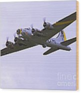 B-17g Liberty Belle Approach 8x10 Special Wood Print by Tim Mulina