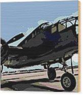 B-25 Bomber Wood Print