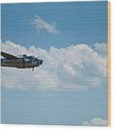 B 25 Mitchel Bomber Wood Print
