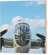 B-25j Killer B Wood Print by Lynda Dawson-Youngclaus
