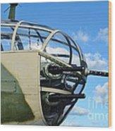 B-25j Nose Wood Print