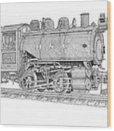 B And O Steam Switcher Wood Print