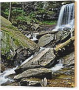 B Reynolds Falls Wood Print by Frozen in Time Fine Art Photography