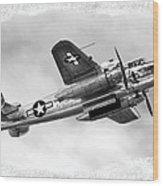 B25 In Flight Wood Print