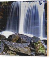 Babcock State Park Waterfall Wood Print