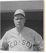 Babe Ruth 1919 Wood Print