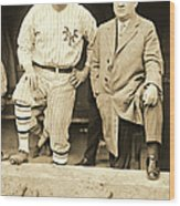 Babe Ruth And John Mcgraw 1923 Wood Print by Padre Art