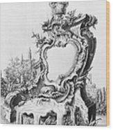 Babel: Fountain Wood Print