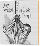 Baby Being Weighed, 1887 Wood Print