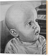 Baby Carter Wood Print