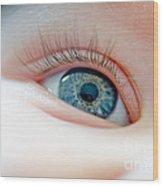 Baby Eye Close-up Of A Blue Eye Wood Print