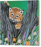 Baby Lynx Wood Print