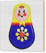 Baby Matrioshka Doll  Wood Print