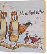 Baby Owls One Wood Print