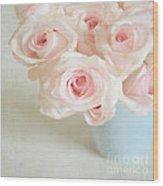 Baby Pink Roses Wood Print by Lyn Randle
