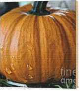 Baby Pumpkin Tears Wood Print
