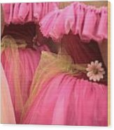 Baby Tutus Wood Print by Denice Breaux