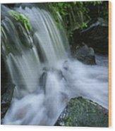 Baby Waterfall Wood Print