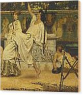 Bacchanal Wood Print by Sir Lawrence Alma-Tadema