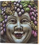 Bacchus God Of Wine Wood Print