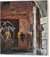 Back Alley In Leon Wood Print