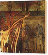 Back Bone #3 Wood Print by Janet Kearns