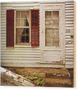 Back Door Of Old Farmhouse Wood Print